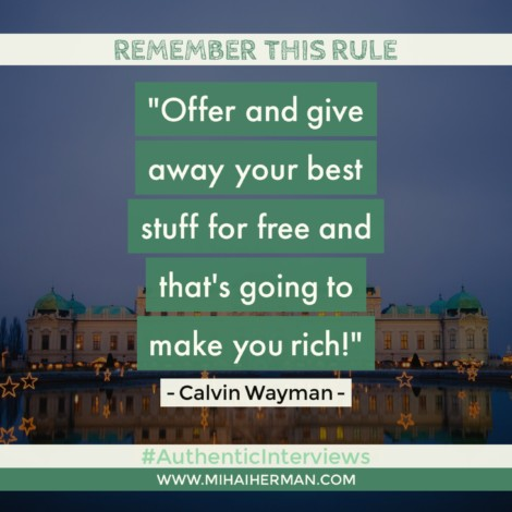 Quote about Free Value by Calvin Wayman - Mihaiherman.com