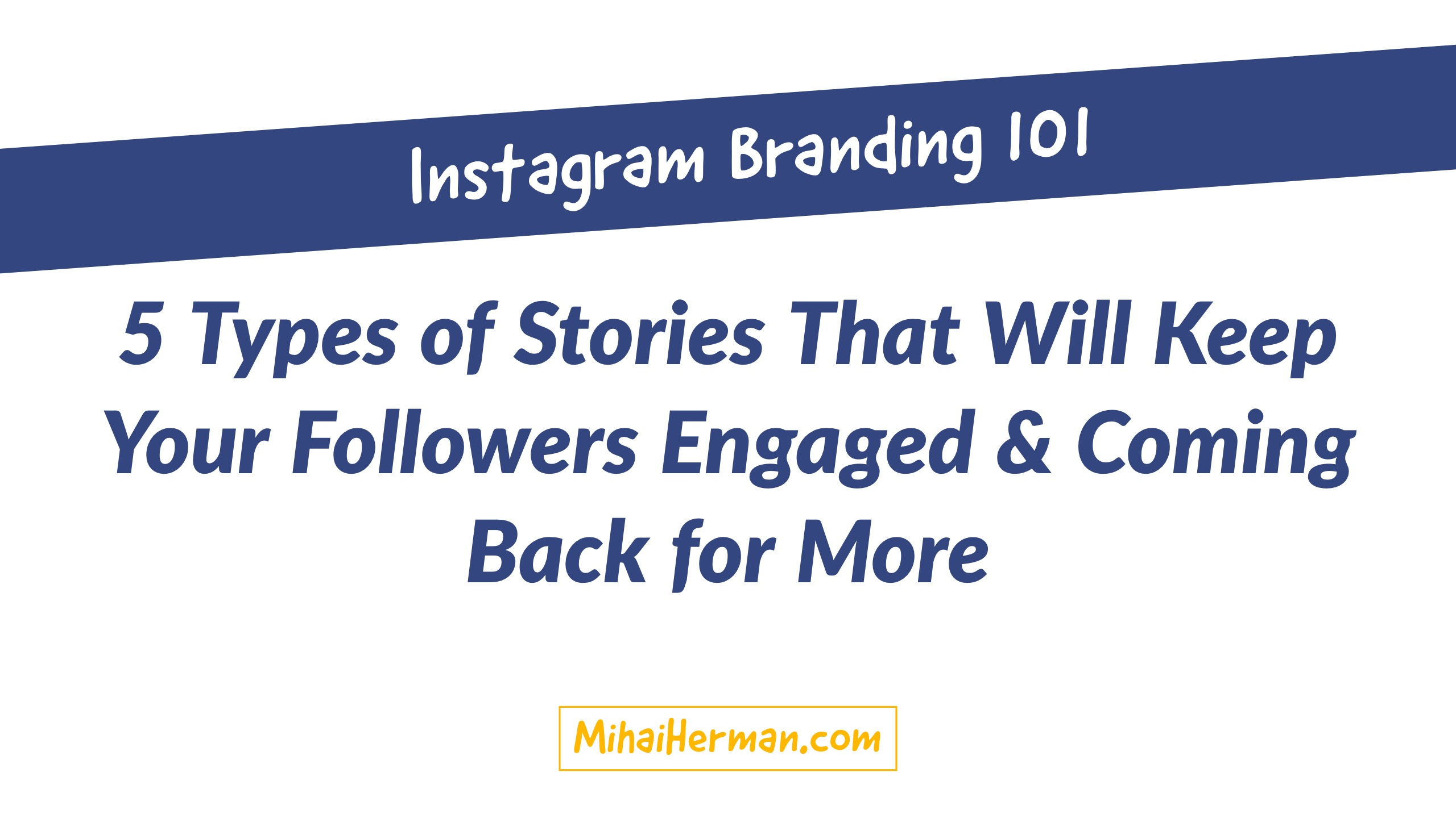 Instagram Stories Branding